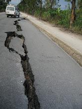 dégâts sur la route