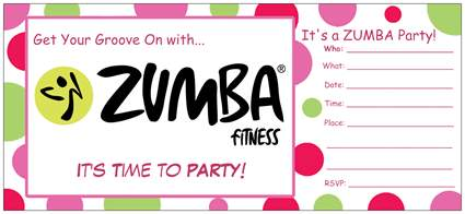 Marcela zumba fitness zumba birthday party packages 8 free zumba birthday party invitations 1ea additional invitation stopboris Image collections