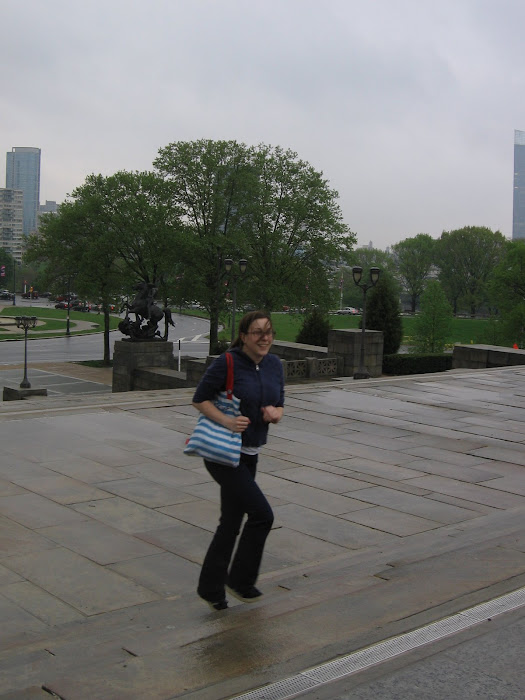 Janine Retracing Rocky's Steps