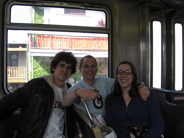 Us & Our New Friend Doug On The El. (Chicago)