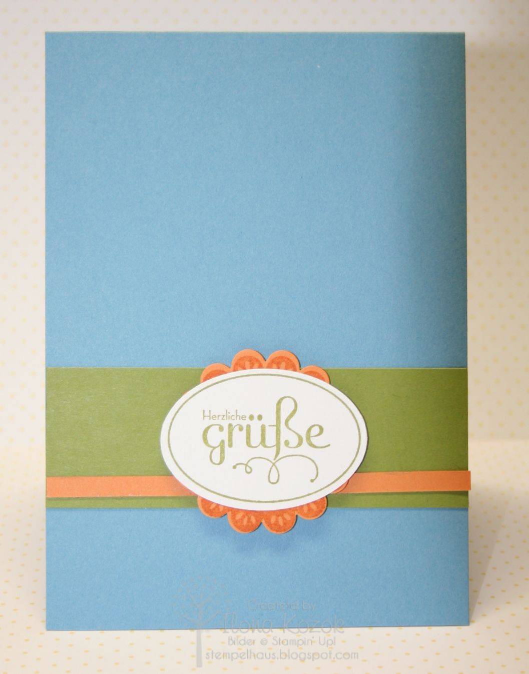 IMG 0425 greeting cards quickly and easily ... for a template from Stampin Up I made ...