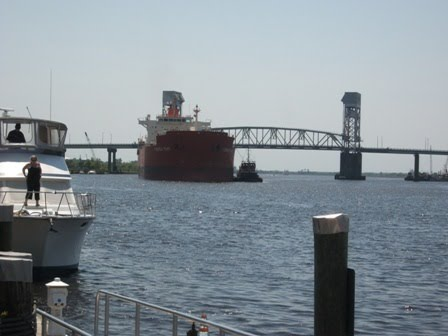 Ship coming into Port of Wilmington