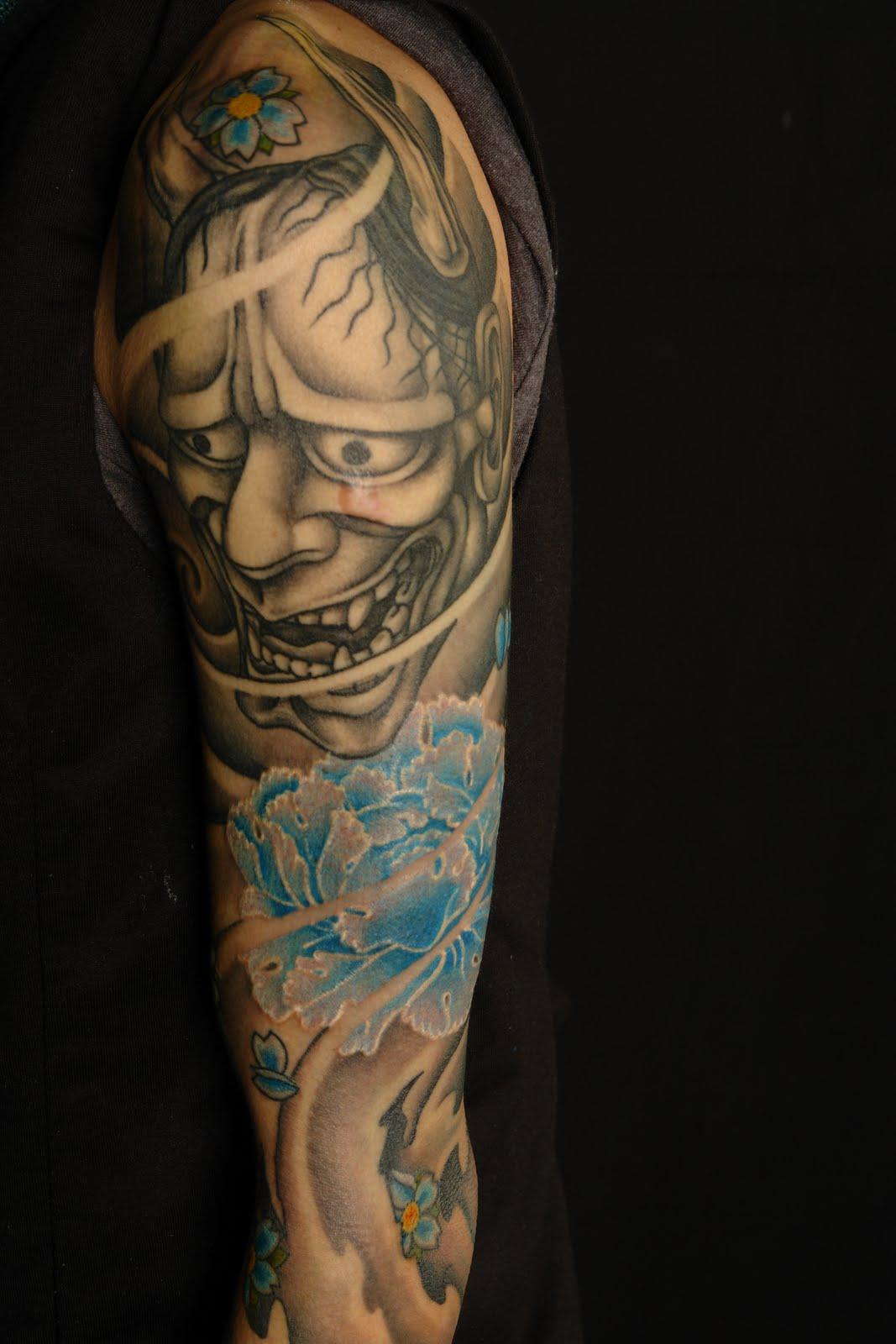 Shane tattoos hanya half sleeve on jacky for Half sleeve tattoos