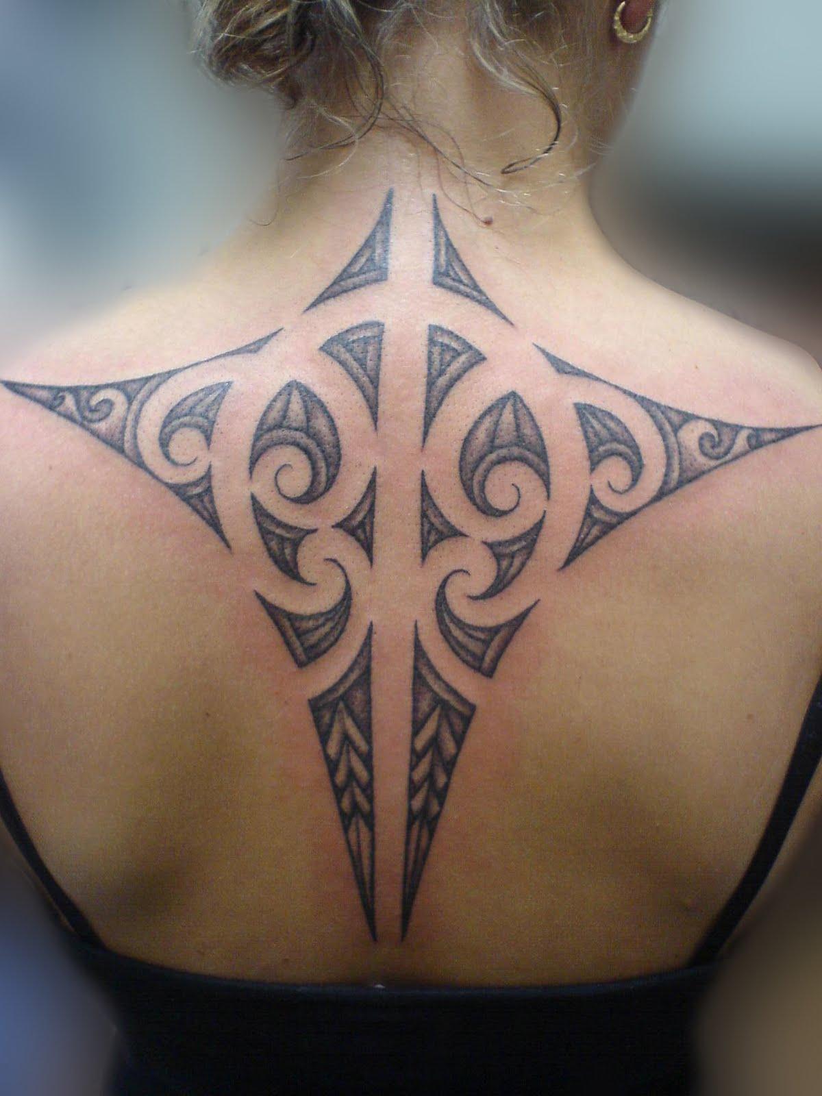 Maori Back Tattoo
