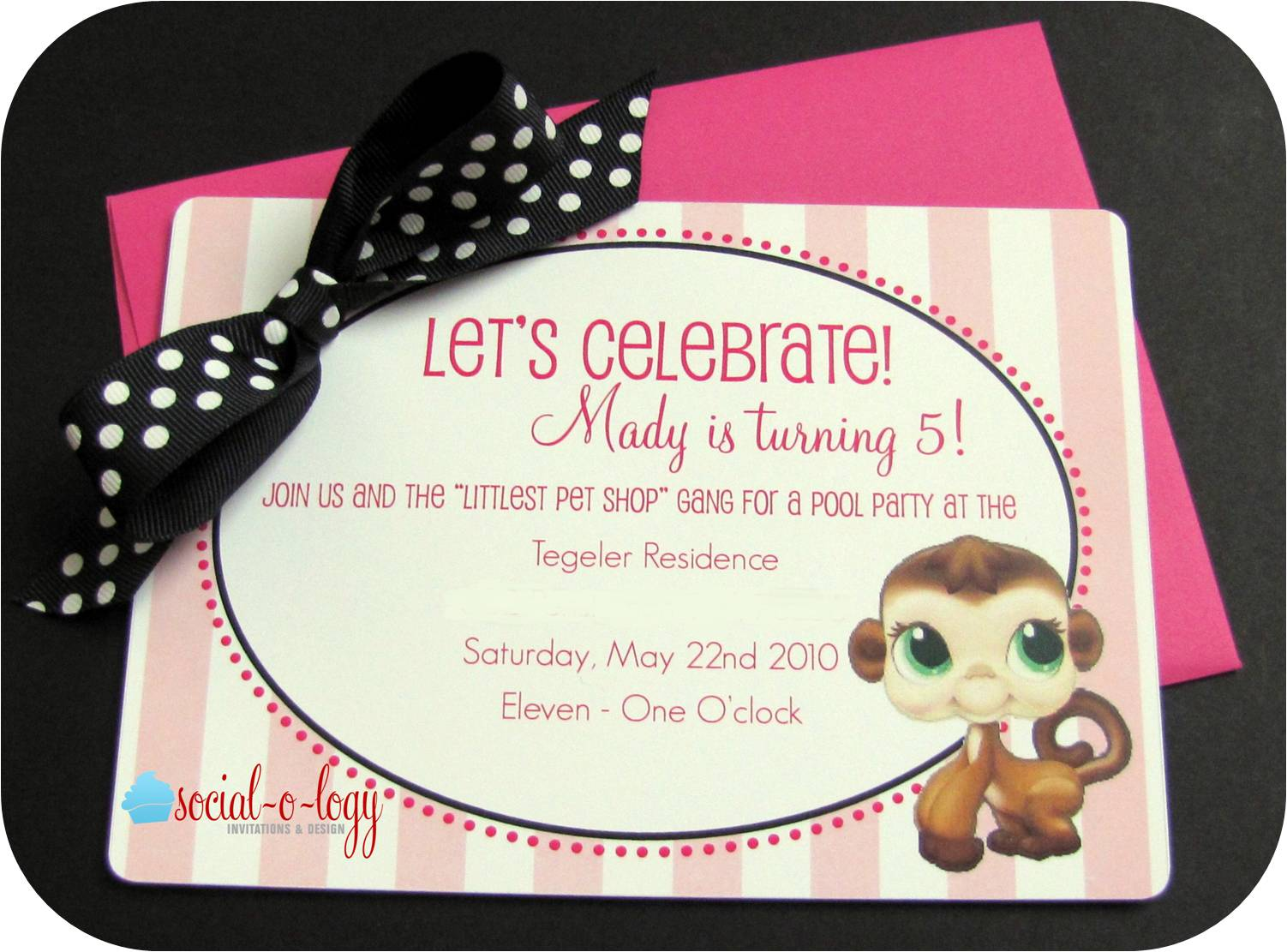 Socialology Invitations and Design The Birthday Party Littlest