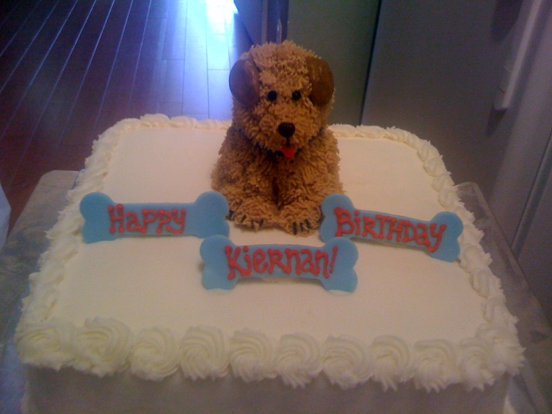 how to make a dog birthday cake for a child
