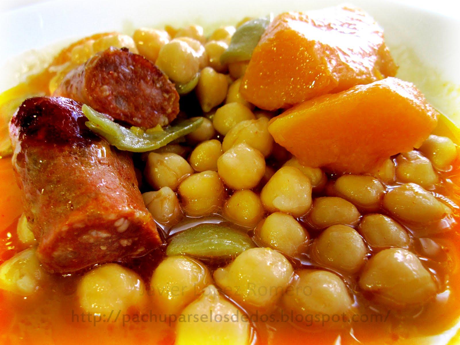 O do cocina garbanzos con chorizo y calabaza for Cocinar garbanzos con chorizo