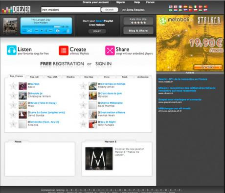 Streaming Music: DEEZER