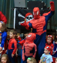 Spiderman parties with friends