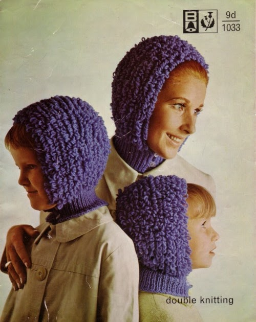 Knit for Victory: Loopy knitted hats from the 1970s