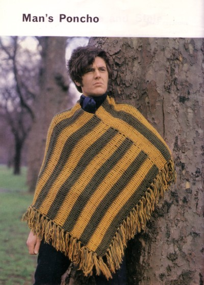 Knit for Victory: Man\'s Poncho