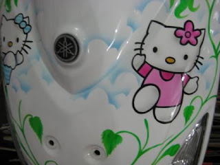 contoh modifikasi mio hello kitty