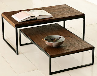 Nicole Bhow Interior Design Rustic Modern Coffee Tables