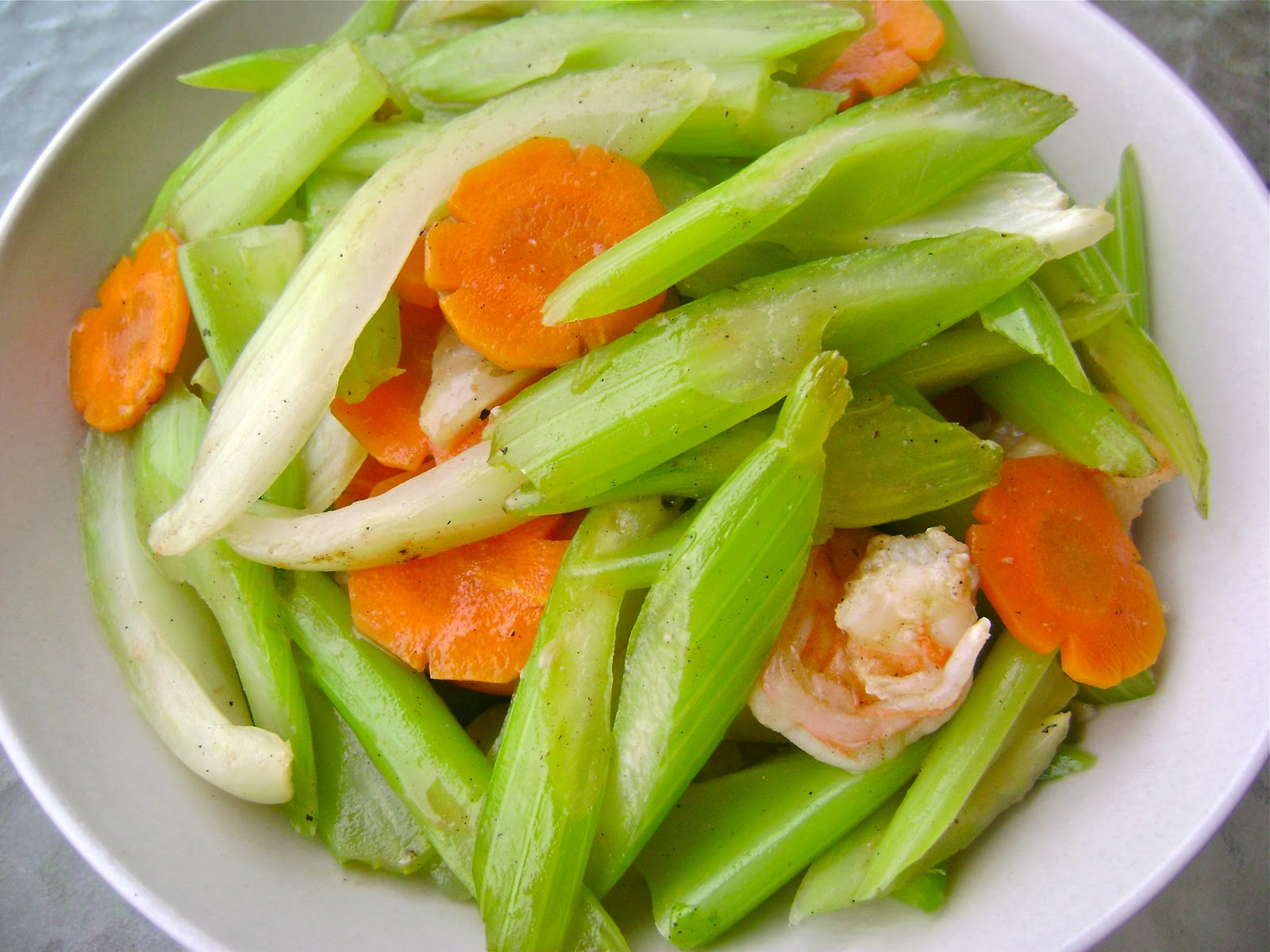 Savories and Sweets by Keyna: Stir-Fry Celery With Shrimp