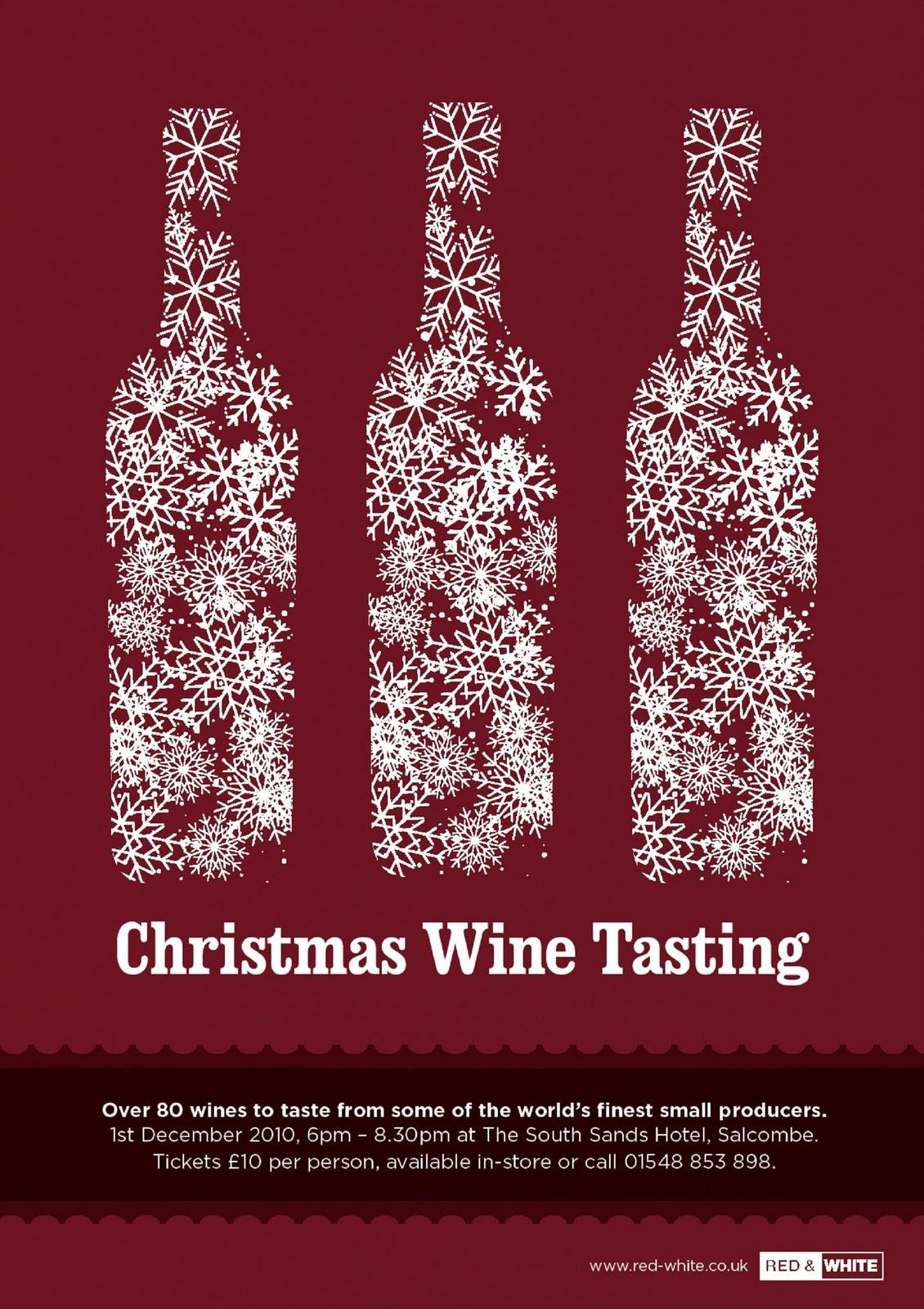 Red White Christmas Wine Tasting