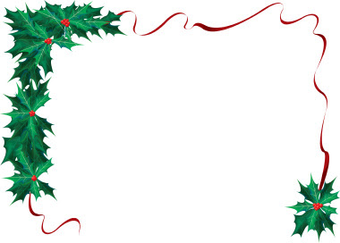 Christmas Ribbon Borders