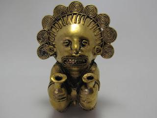 Tairona tumbago shaman in hallucinogenic state