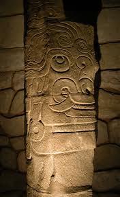 Chavin gilded llama bone shamanic pectoral