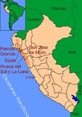 Localización geográfica de la cultura Moche