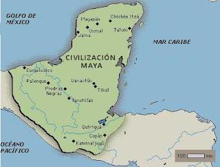 Ubicacion de la cultura Maya