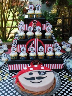 Cupcake e Bolo Piratas