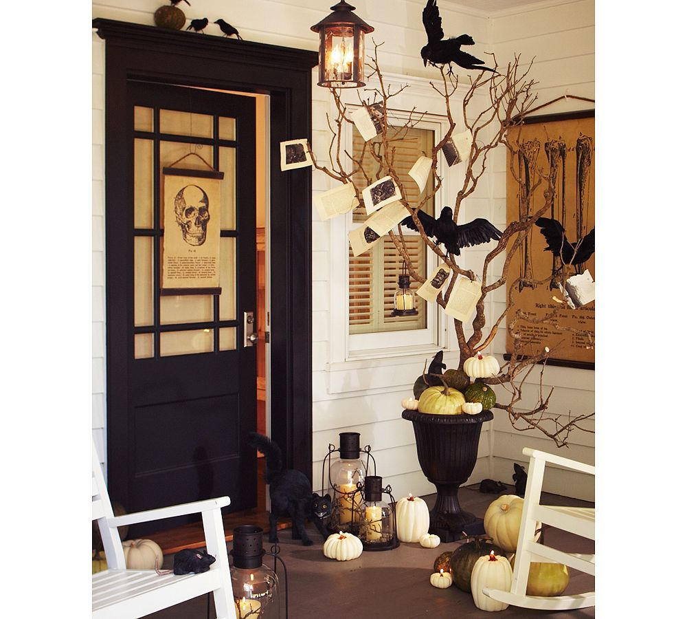 mysterious and creepy front porch decorating ideas for halloween decorating for halloween