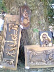 artesania en el bosque