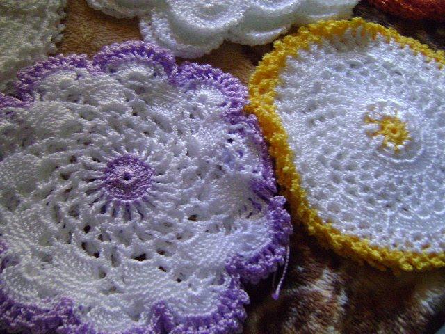 Meus Crochets: Jogos de Toalhinhas em Crochê