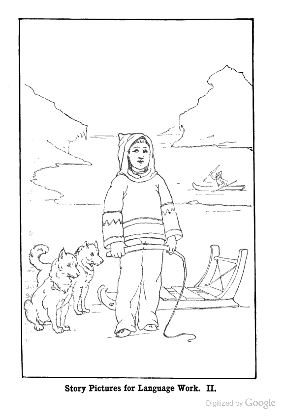 american eskimo coloring pages - photo#18