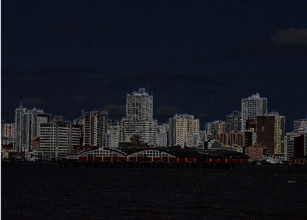 CENTRO DE POA VISTO DO RIO