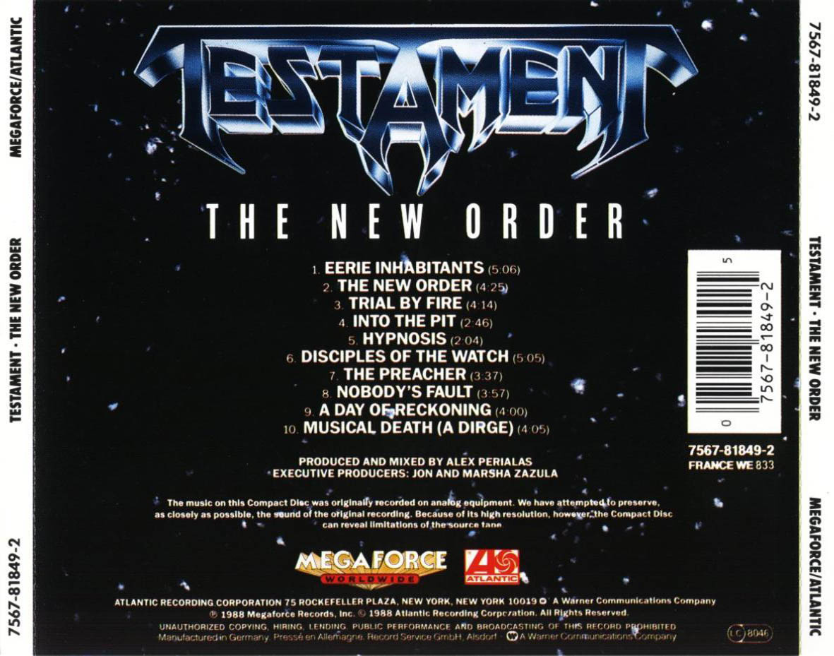 testament the new order 1988 musampe