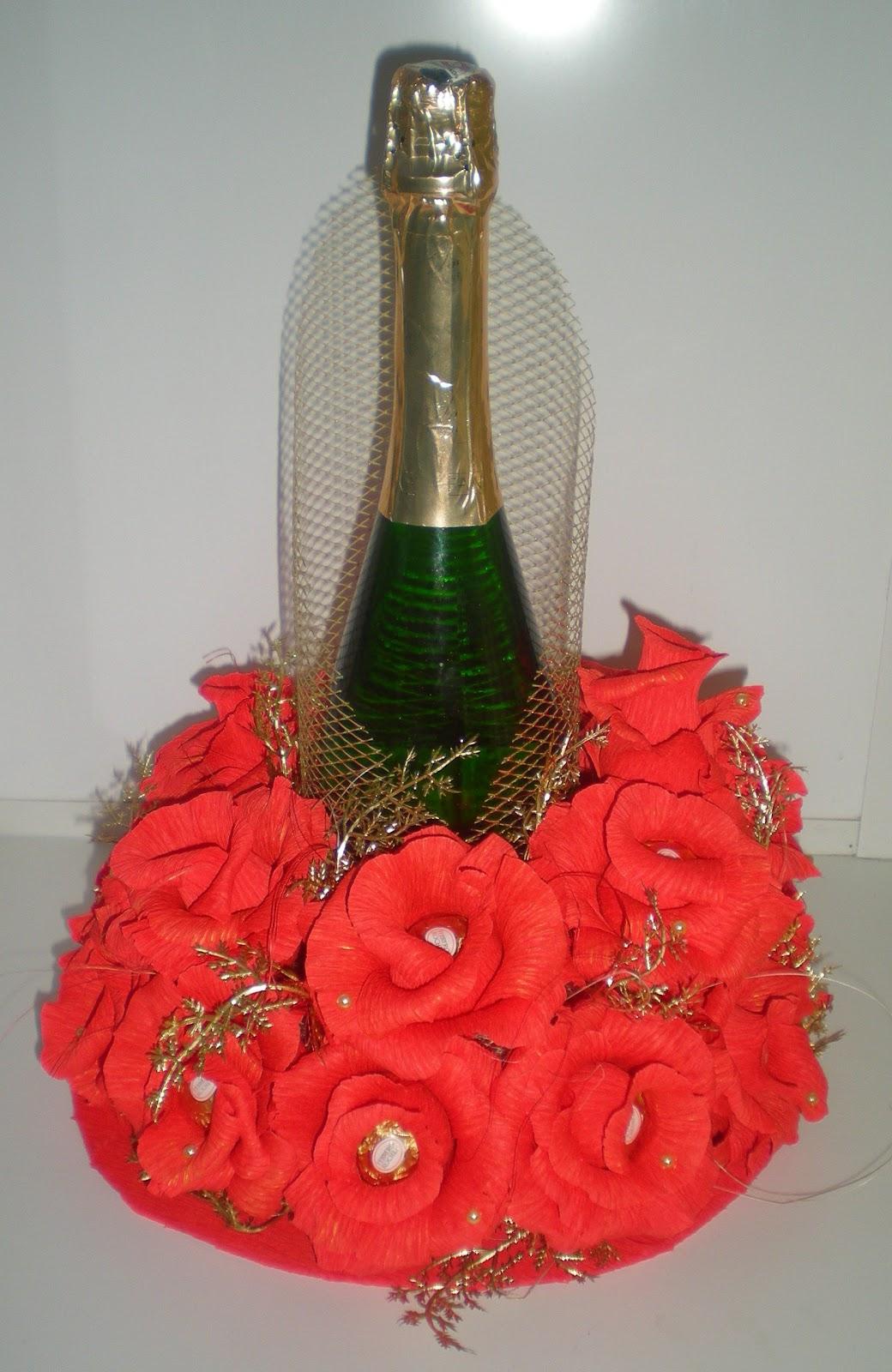 Шампанское из конфет своими руками пошаговое фото