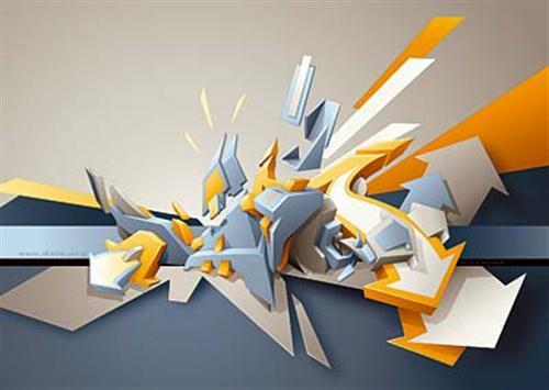 3d Graffiti Styles. in 3D graffiti style.