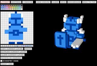 The Forgotten Gamer Q Block 3d Pixel Art Creator