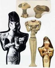 Estatuilla Reptiliana Gina'abul descubierta Ur (Irak)