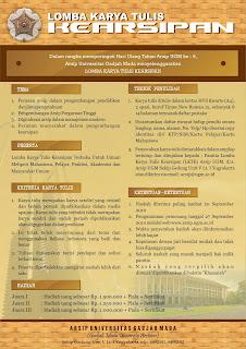 Lomba Karya Tulis Kearsipan oleh Arsip Universitas UGM