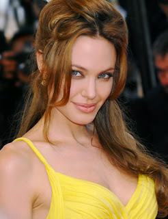 Angelina Jolie Sexy With Yellow Shirt