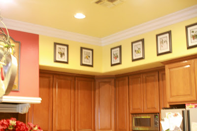 Out of the attic decorating on the cheap - Kitchen soffit design ...