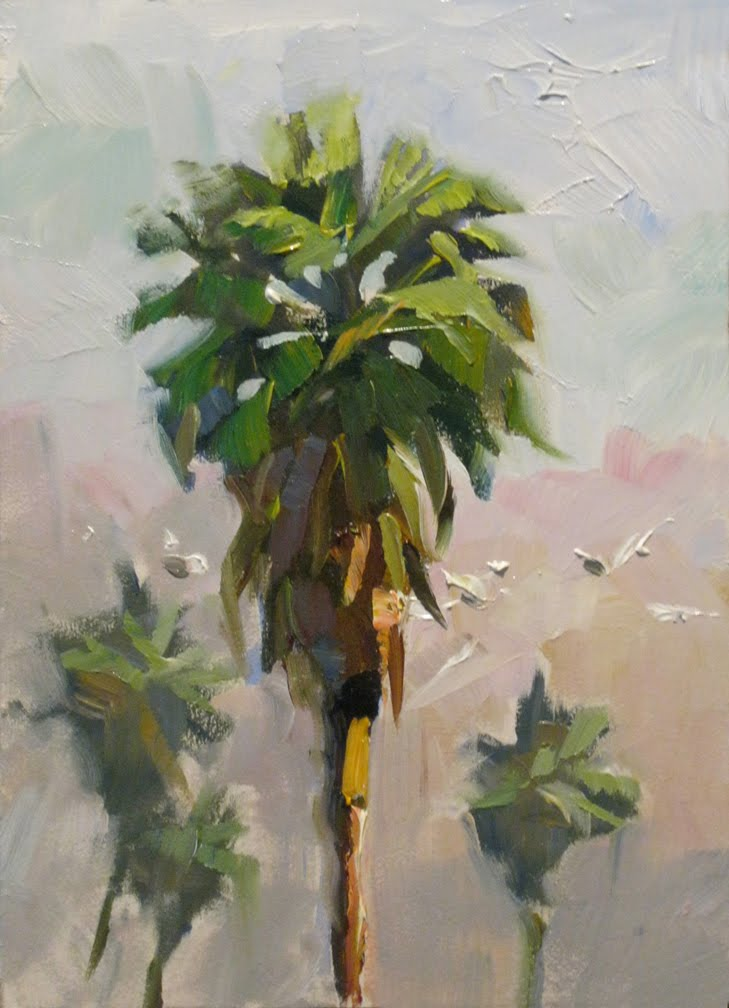 Daily painters of california palm trees plein air for Painting palm trees