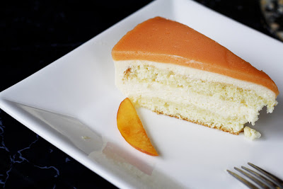 Chamomille Peach Mousse Cakes....
