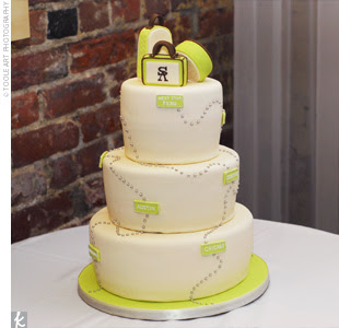 Travel inspired wedding cakes