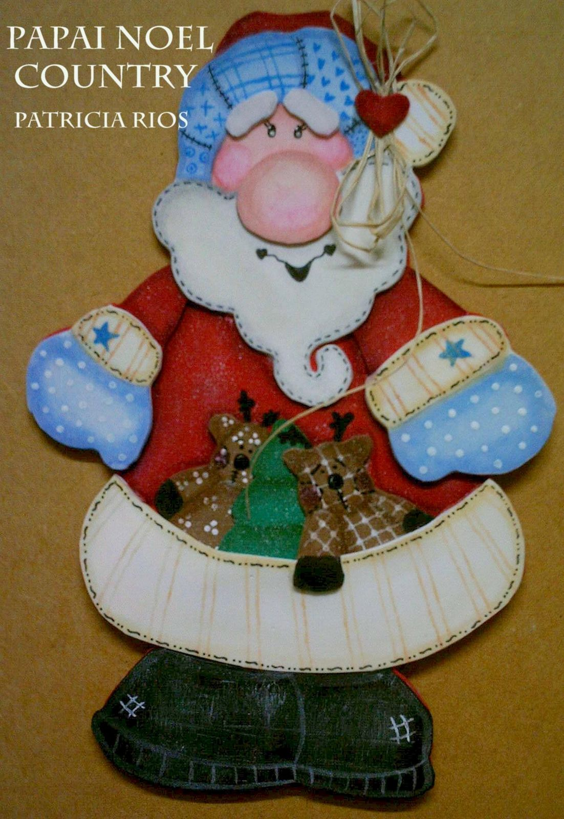 Molde Papai Noel Country Em Eva