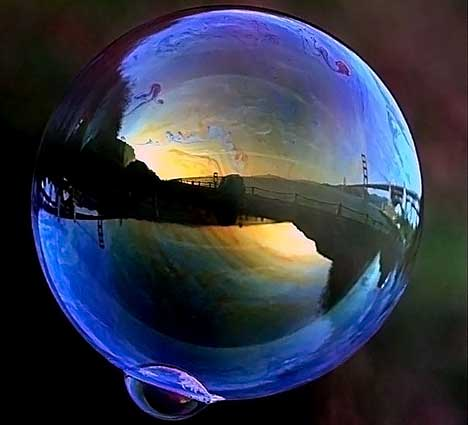 Beautiful soap bubbles Photography