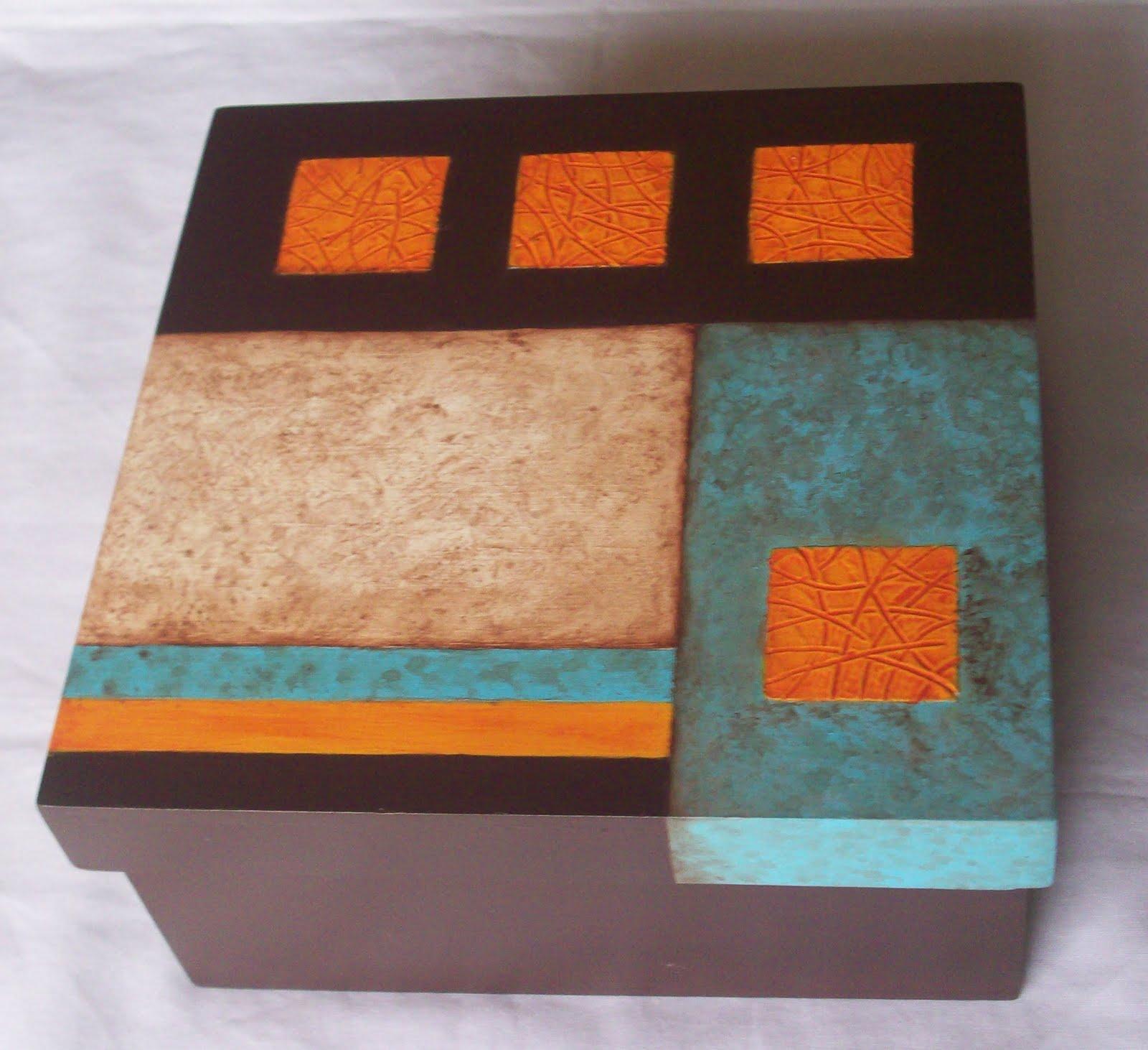 Pinturas de gladys cajas con acrilico - Decorar madera con pintura ...