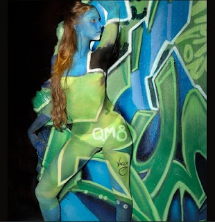 star bodypainting art