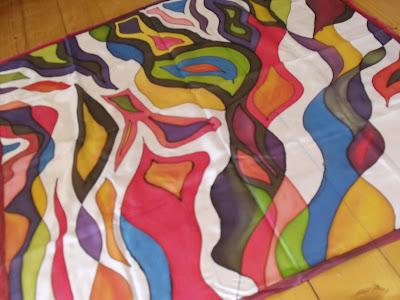 kézzel festett selyemkendő