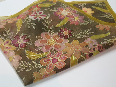 virágos selyemkendő ajándék ötlet szülinapra, névnapra