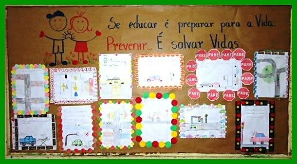 A escola da fam lia painel semana do tr nsito for Mural sobre o transito
