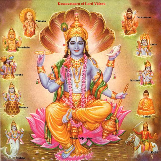 10 incarnation of Hindu God Vishnu Wallpaper