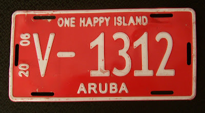 photo of: License Plate from Aruba, Lucky Birth-date number